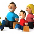 Stock Photo: Family 3d illustration
