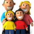 Family 3d illustration — Stock Photo #4364363