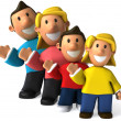 Family 3d illustration — Stock Photo #4364367