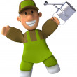 Gardener 3d illustration - Stock Photo
