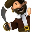 Pirate 3d illustration — Stock Photo