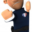Police 3d illustration — Stock Photo #4365112