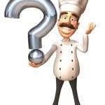 Chef 3d illustration — Stock Photo