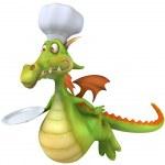 Dragon Chef 3d illustration — Stock Photo
