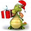 Christmas  Dragon 3d illustration - Stock Photo