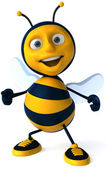Cartoon bee — Stock Photo