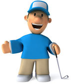 Golf 3d animation — Stock Photo