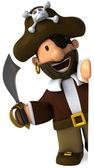 Pirate 3d illustration — Stock Photo