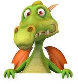 Dragon 3d ilustrace — Stock fotografie