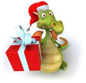 Christmas Dragon 3d illustration — Stock Photo