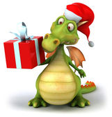 Christmas Dragon 3d illustration — Foto Stock