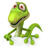 Lizard 3d illustration — Stock Photo