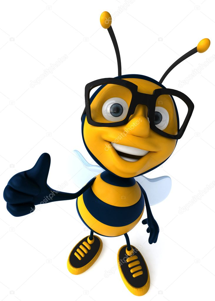 Cartoon 3d bee — Stock Photo #4362553