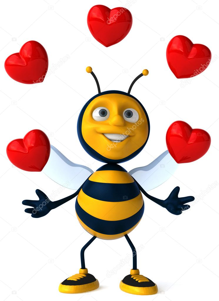 Cartoon 3d bee — Stock Photo #4362568