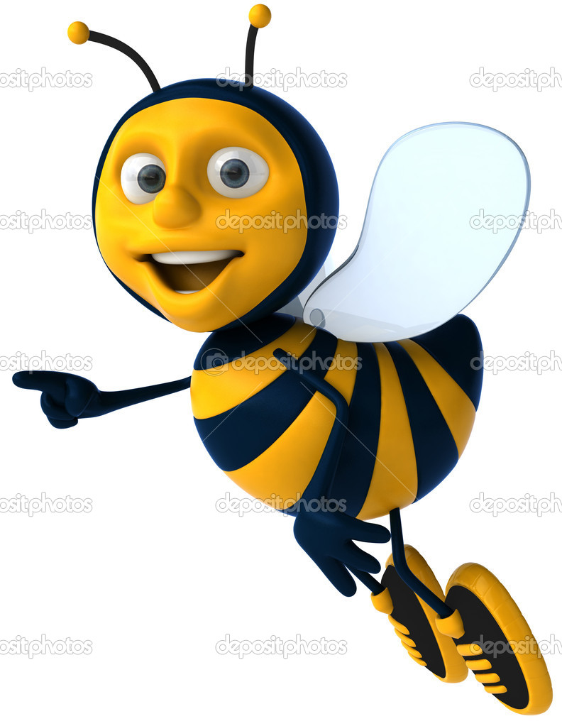 Cartoon 3d bee — Stockfoto #4362719
