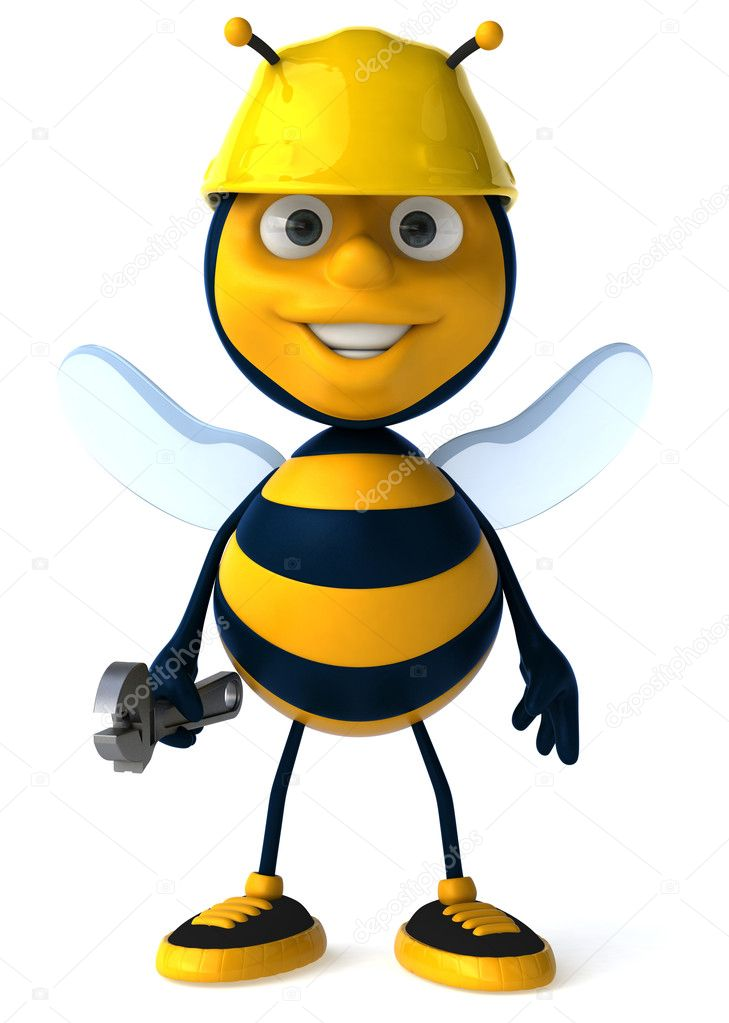 Cartoon 3d bee — Stock Photo #4362898