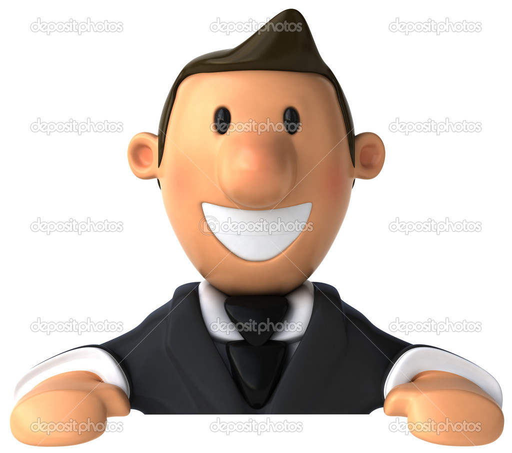 Business man 3d illustration — Stock Photo #4363827
