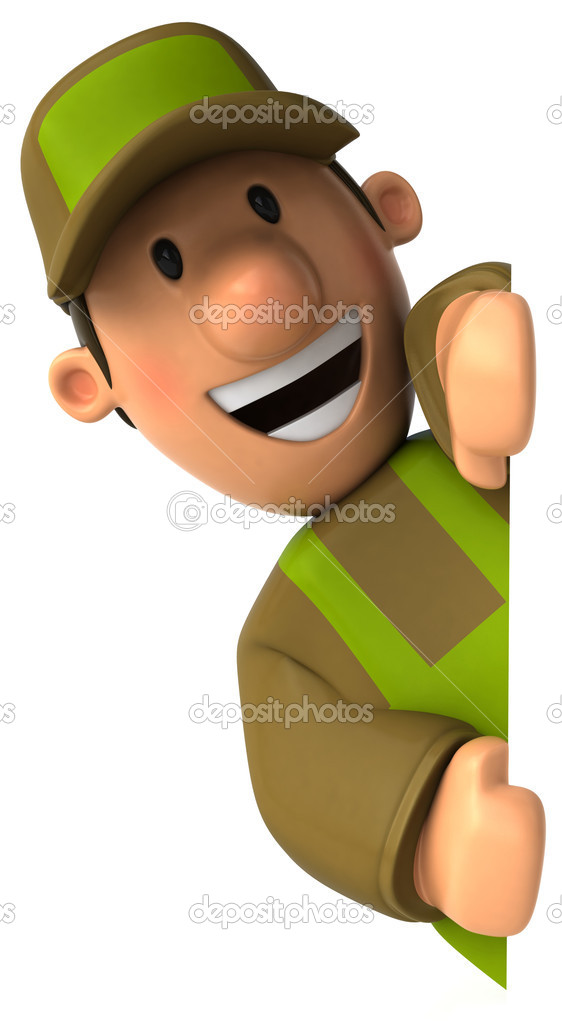 Gardener 3d illustration — Stock Photo #4364514