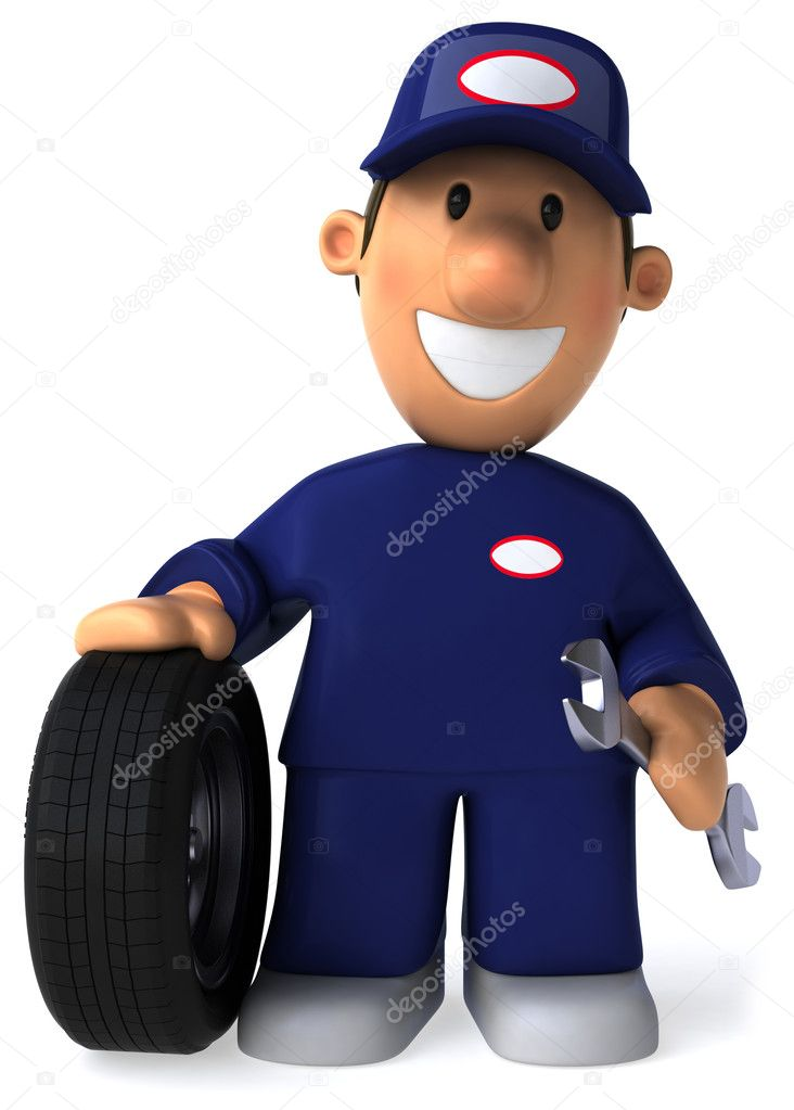 Mechanic   3d illustration — Stock Photo #4364689