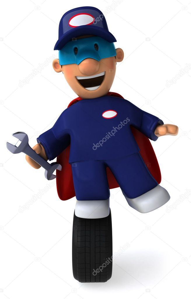   Mechanic   3d illustration  Stock Photo #4364707