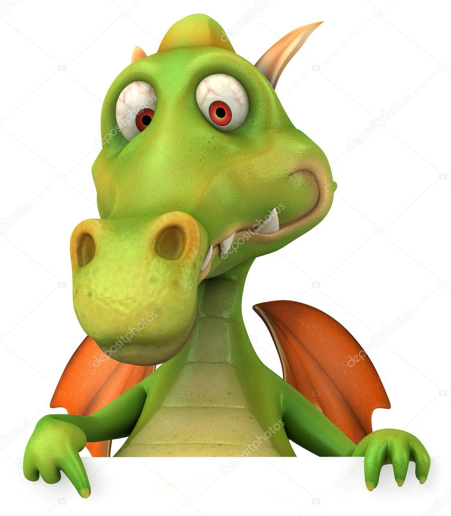 Dragon 3d illustration  Stock Photo #4369375