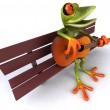 Fun frog — Stock Photo #4370718