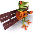 Stock Photo: Fun frog
