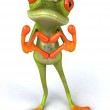 Frog with hearts 3d — Stock Photo