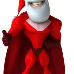 Superhero santa 3d — Stock Photo