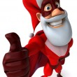 superhero santa 3d — Stock Photo