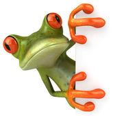 青蛙 3d 动画 — 图库照片