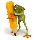 Frog 3d animated — Foto Stock