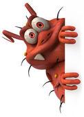 Animação 3d de vírus — Fotografia Stock