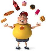 толстый парень — Стоковое фото