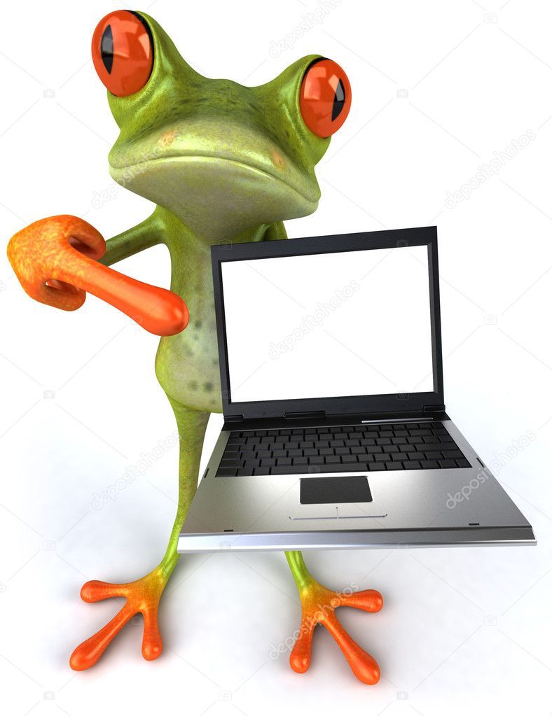 Frog 3d animated — Stock Photo #4370911