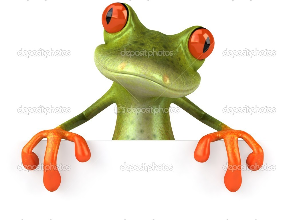 Frog 3d animated  Stock Photo #4371005