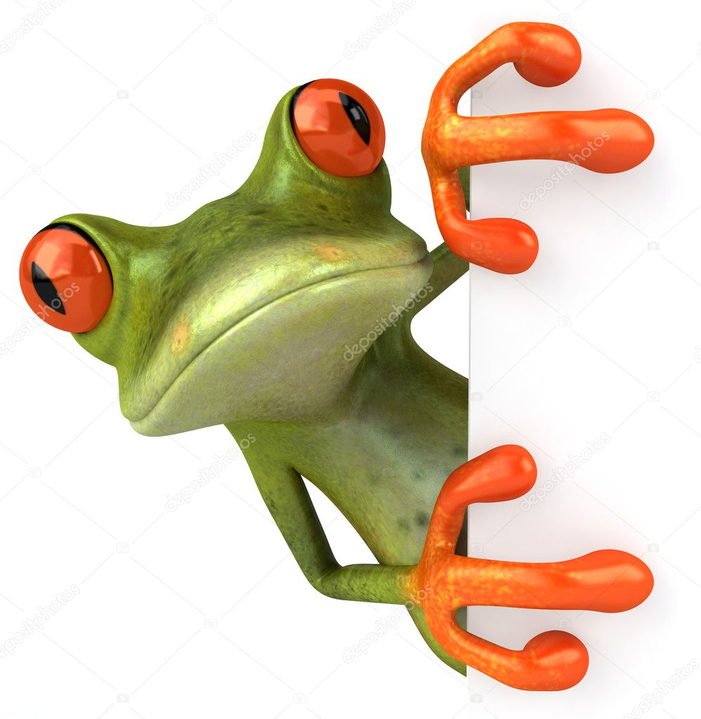 Frog 3d animated — Stock Photo #4371007