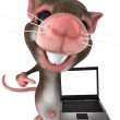 Mouse 3d illustration - Stock Photo
