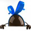 Easter chocolate egg 3d illustration — Stock Photo #4385236