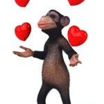 Fun monkey in love — Stock Photo