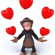 Stock Photo: Fun monkey in love
