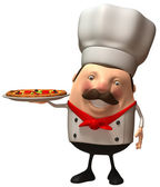 Chef 3d illustration — Stock Photo