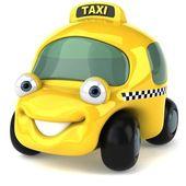 Taxi car 3d illustration — Stock Photo