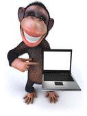 Divertente scimmia — Foto Stock