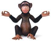 Ilustración 3d mono de la diversión — Foto de Stock
