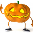 Foto Stock: Pumpkin 3d halloween illustration