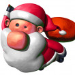 Santa Claus flying — Stock Photo