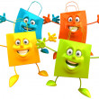 Shopping bags 3d illustration — Stock Photo #4396788