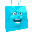 Shopping bag 3d illustration — Stock Photo