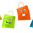 Shopping bags 3d illustration — Stock Photo